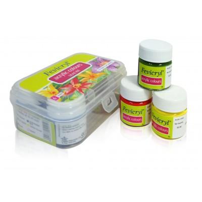 Fevicryl Acrylic Colours Soft Lilac Kit 6 Shades