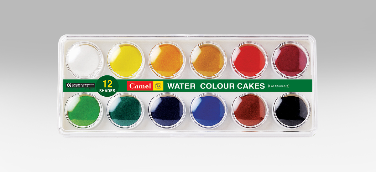 Camel Student Water Colour Cakes - 12 Shades