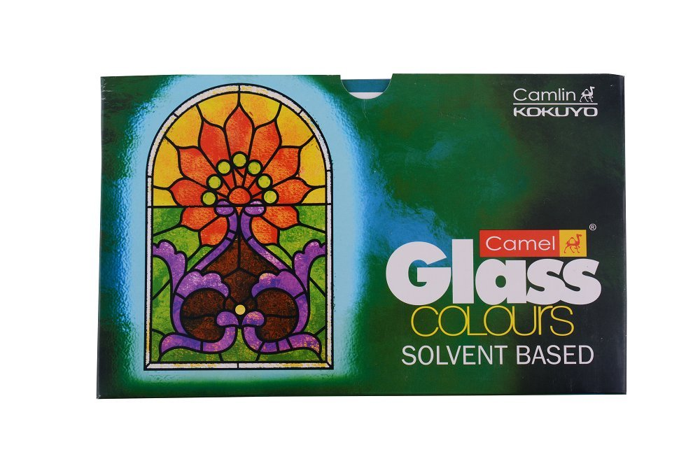 Camel Solvent Based Glass Color - 20ml Each, 5 Shades