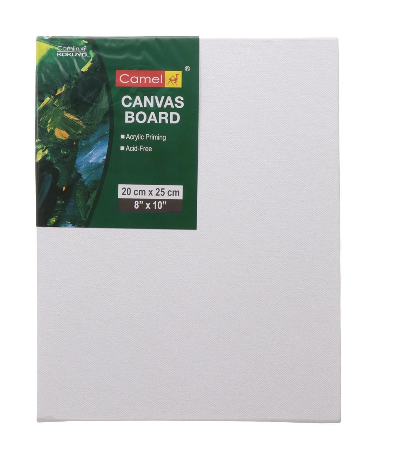 Camlin Kokuyo Canvas Board - 20cm x 25cm