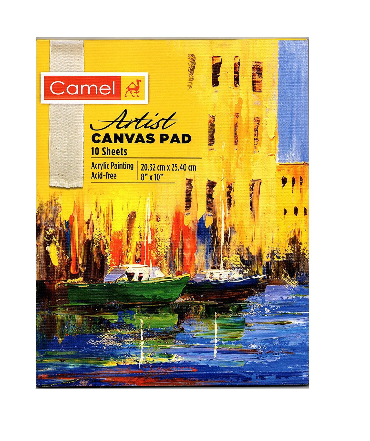 "Camel Artist Canvas PAD - 20cm x 25cm (8"" x 10"")"