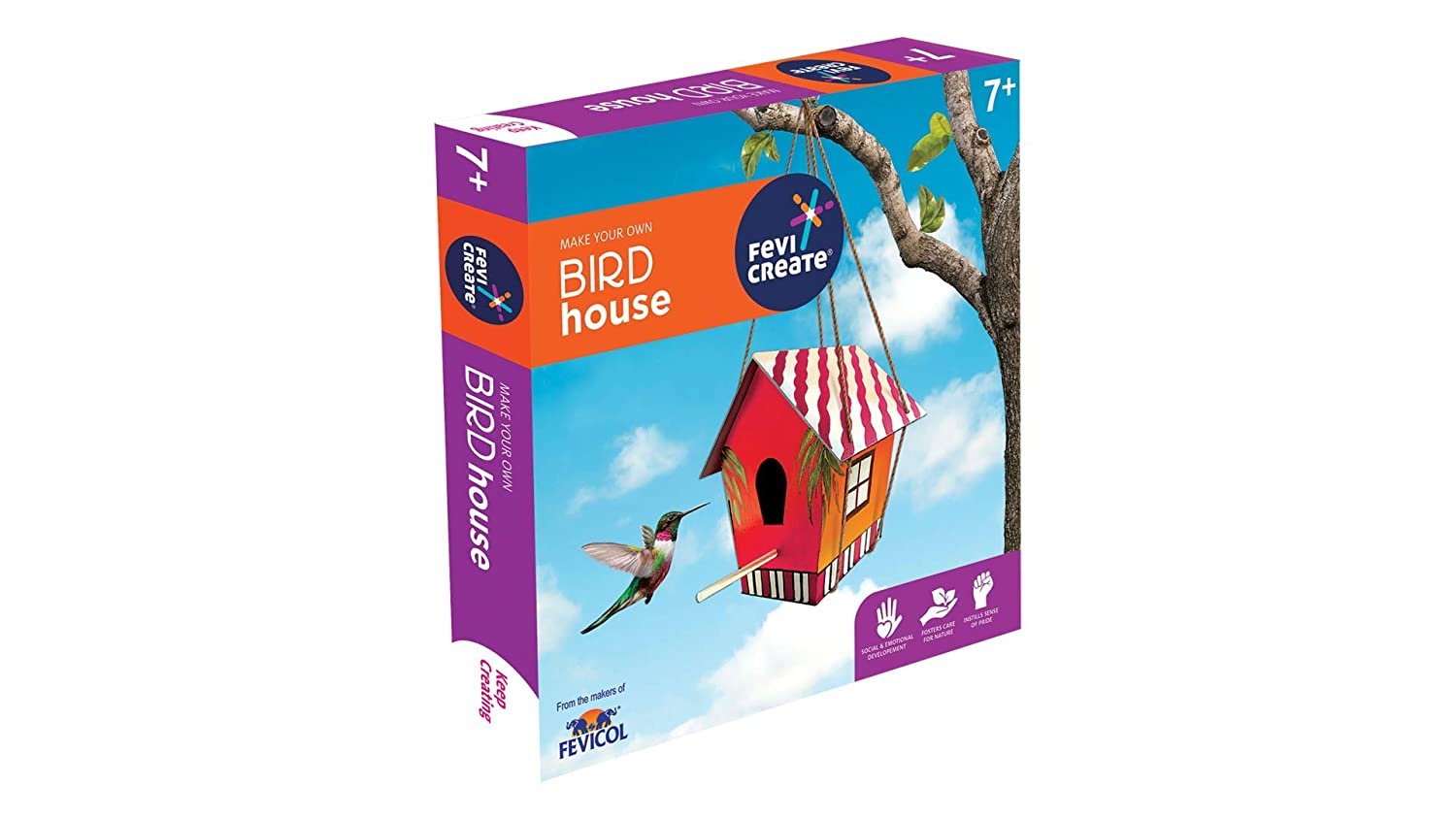 Pidilite Wooden Bird House DIY Art and Craft Kit