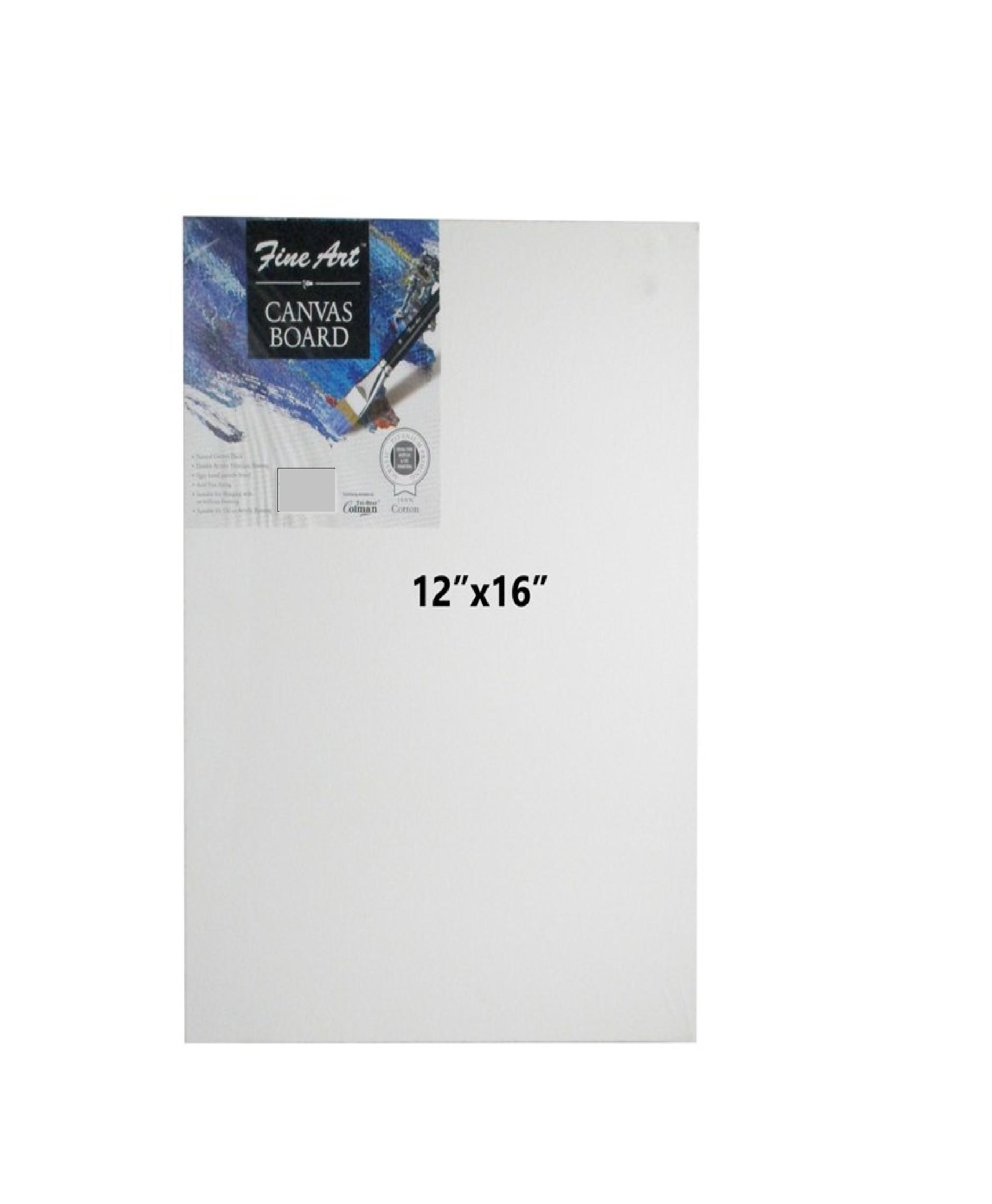 Fine Art Canvas Board 12 X 16 Inches