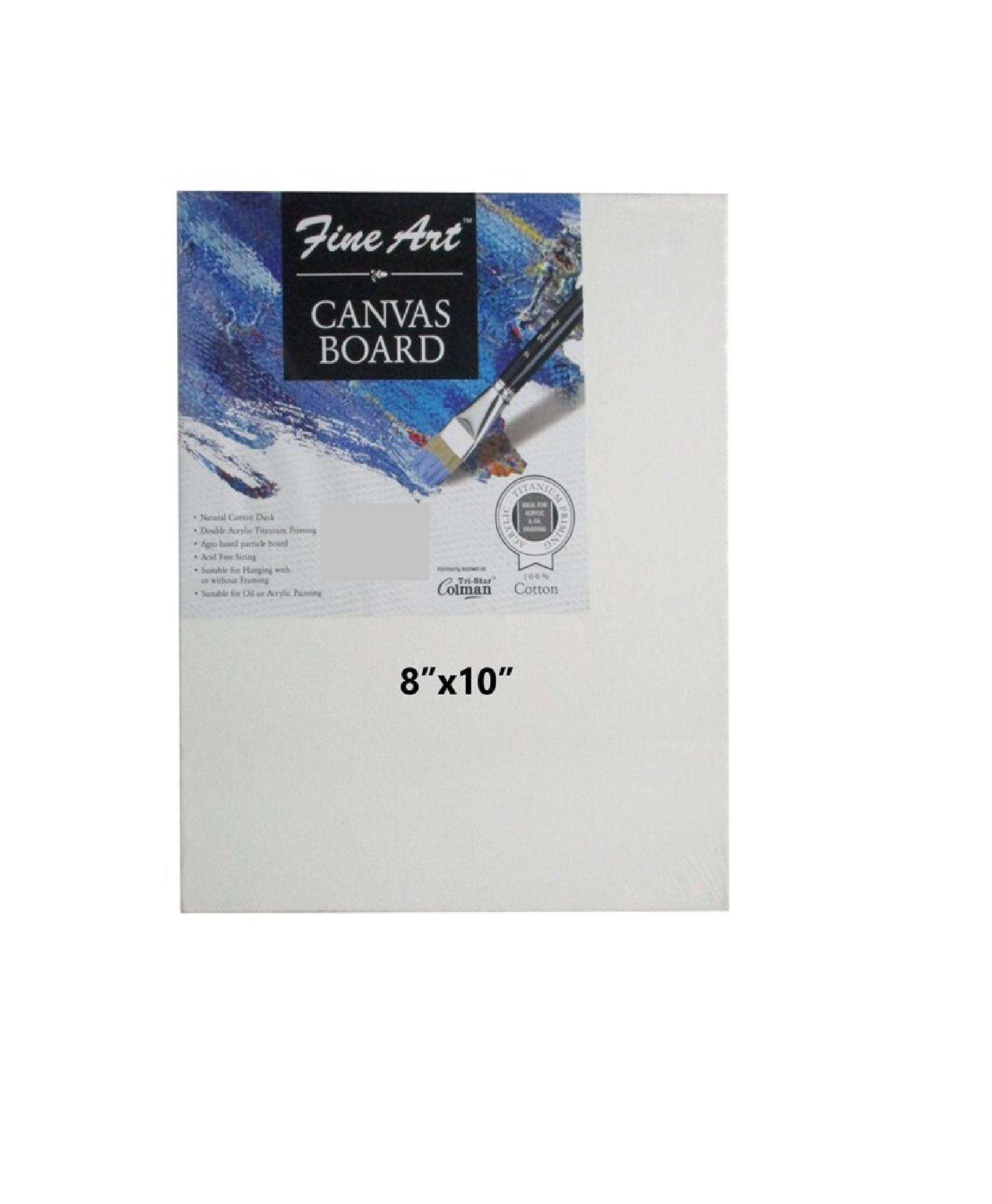 Fine Art CANVAS BOARD 8 X 10 Inches