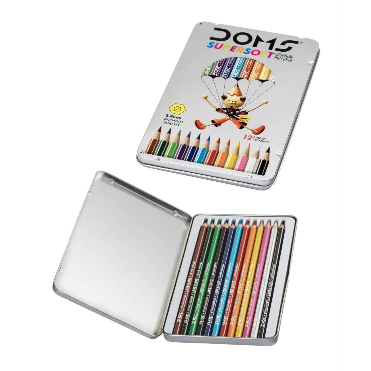 DOMS Doms Supersoft Colour Pencils (12 Shades)
