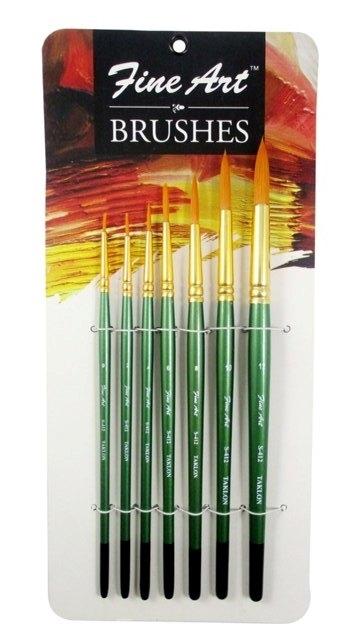 Fine Art Painting Round Brushes Set (Set Of 7)