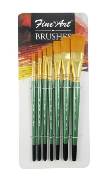 Fine Art Painting Flat Brushes Set (Set of 7)
