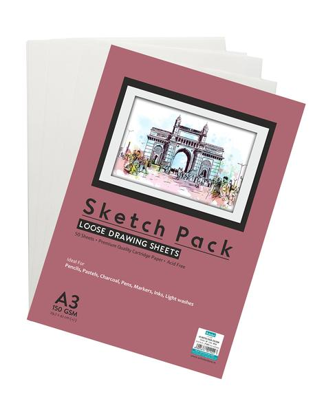 Scholar A3 SKETCH PACK - 150 GSM (SPL6) 50 sheet