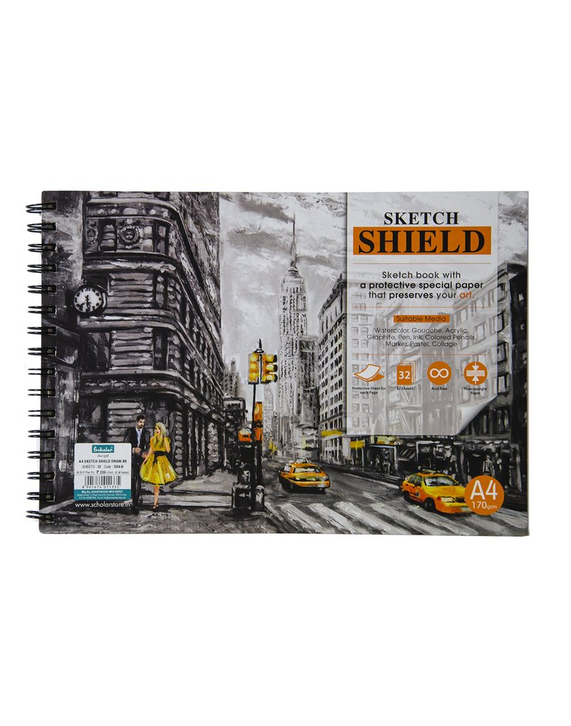 Scholar A4 Sketch Shield Draw SS4-B
