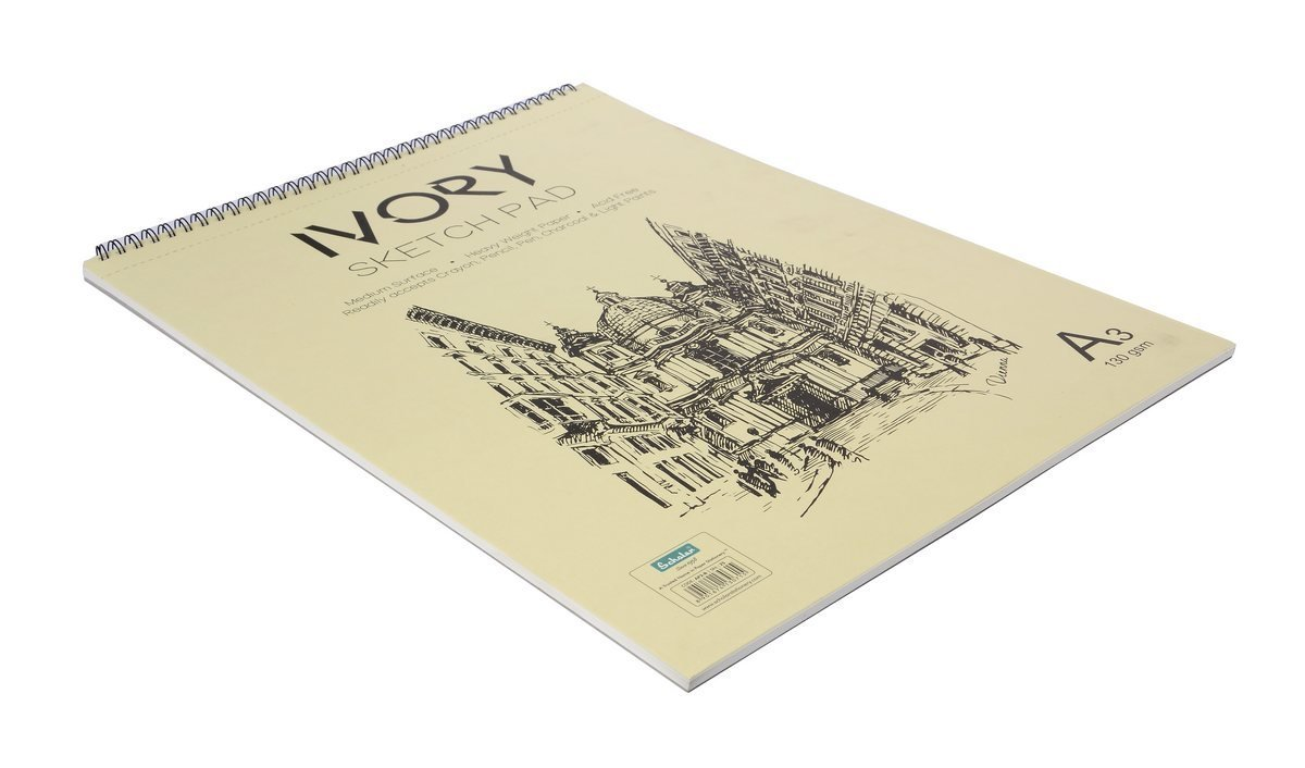 Scholar Ivory Sketch Pad AP2 A3 130gsm