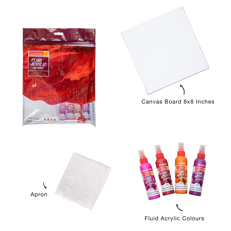 Camel Fluid Acrylic Kit - Sunset Series