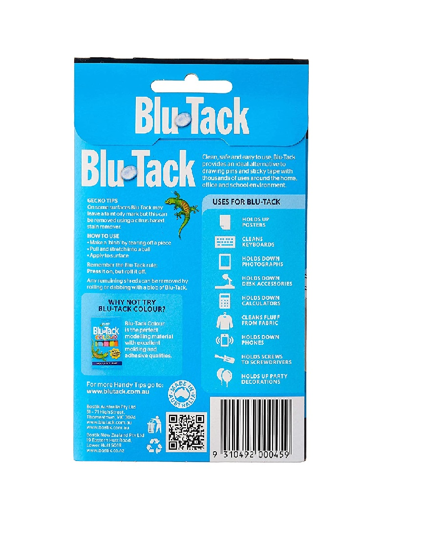 Blutack Reusable Adhesive