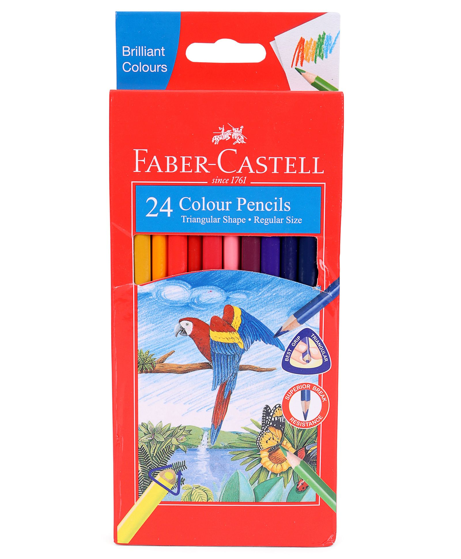 Faber Castell 24 Tri-Colour Pencils