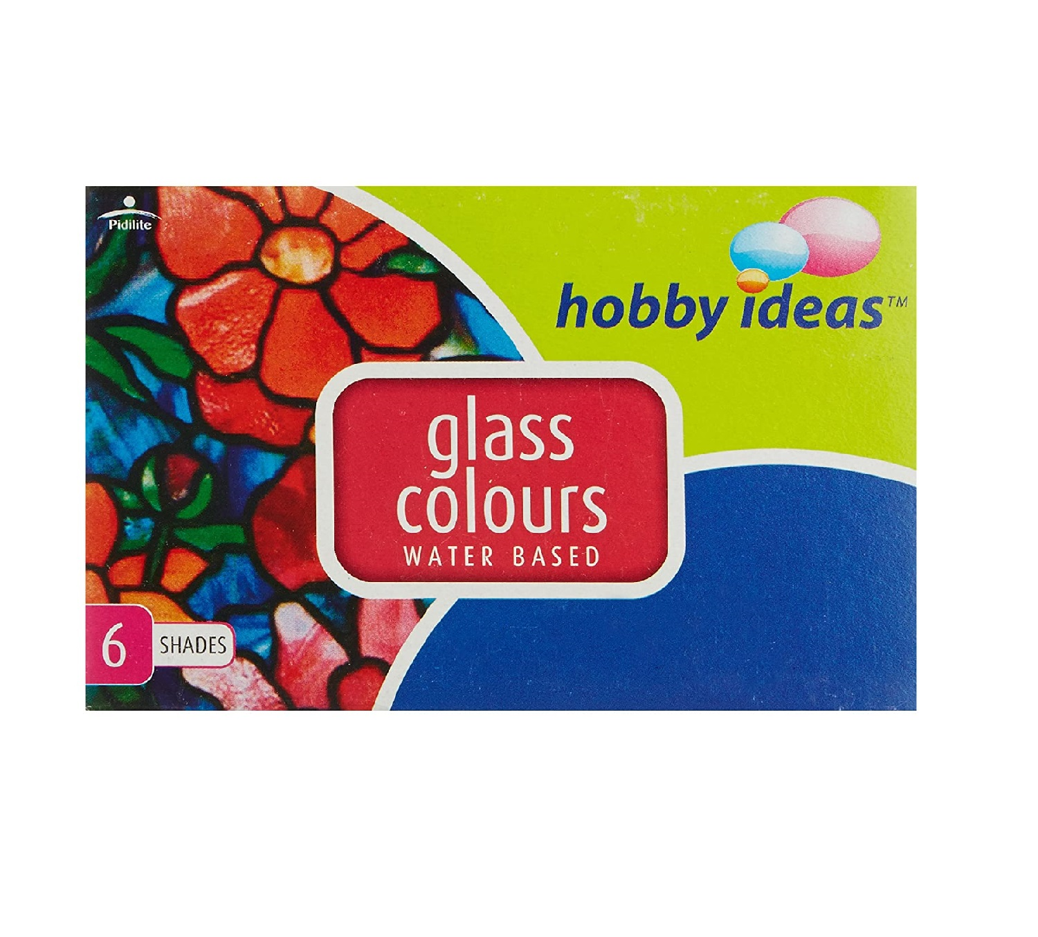 Fevicryl Hobby Ideas Glass Colours Water Based-6 Shades