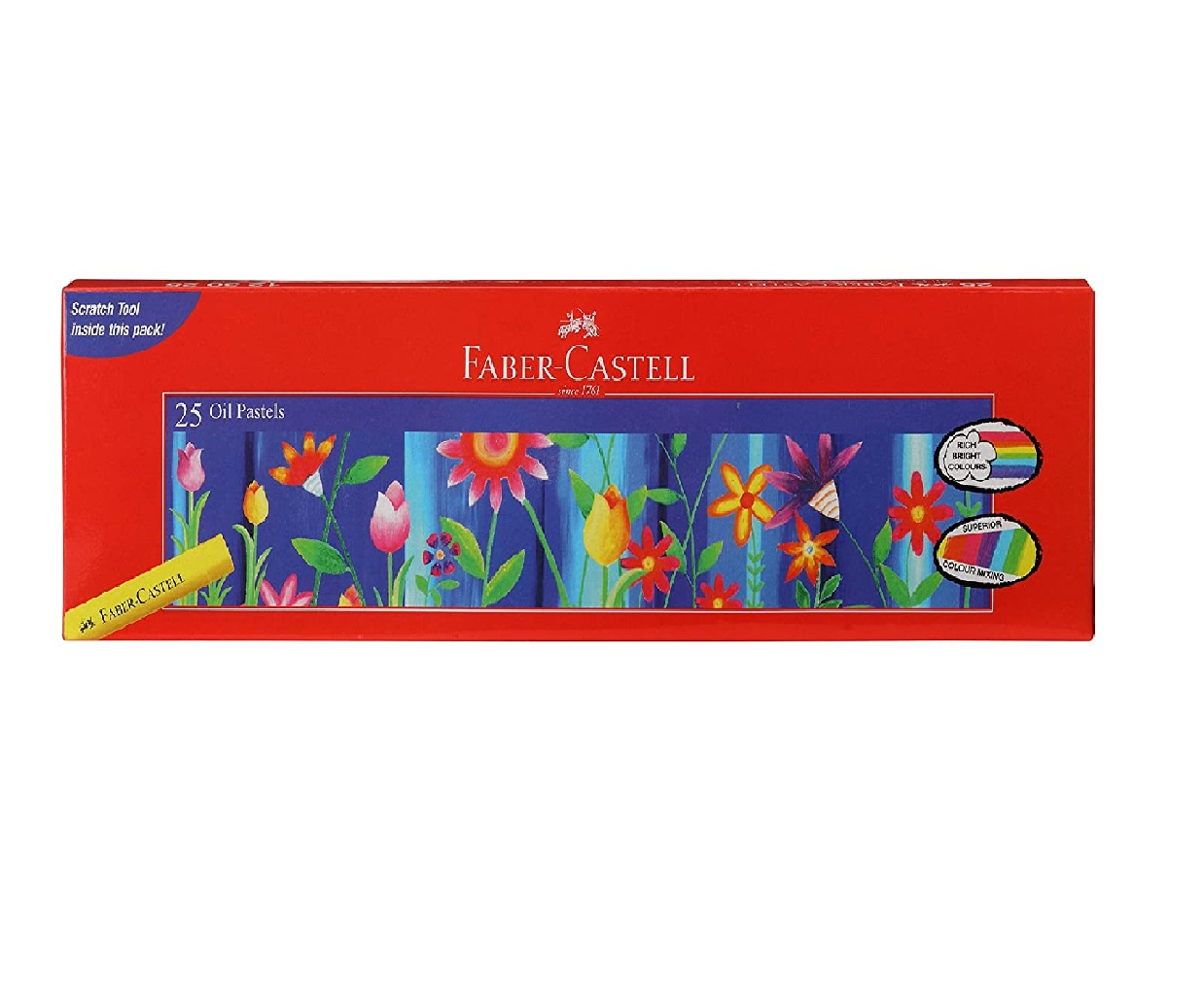 Faber-Castell Oil Pastel Set - Pack of 25 (Assorted)