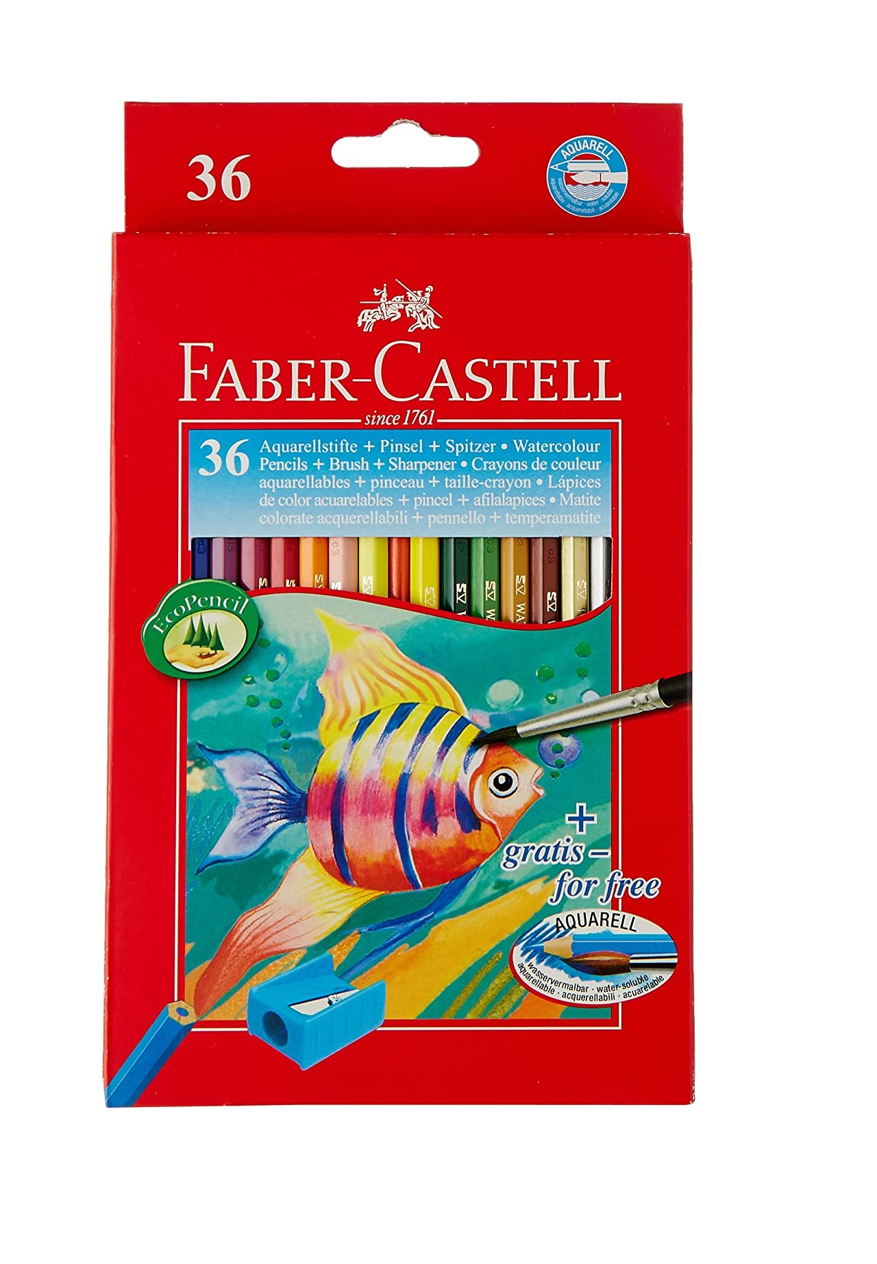 Faber-Castell Design Series Aquarelle Water Color Pencils - 36 Shades