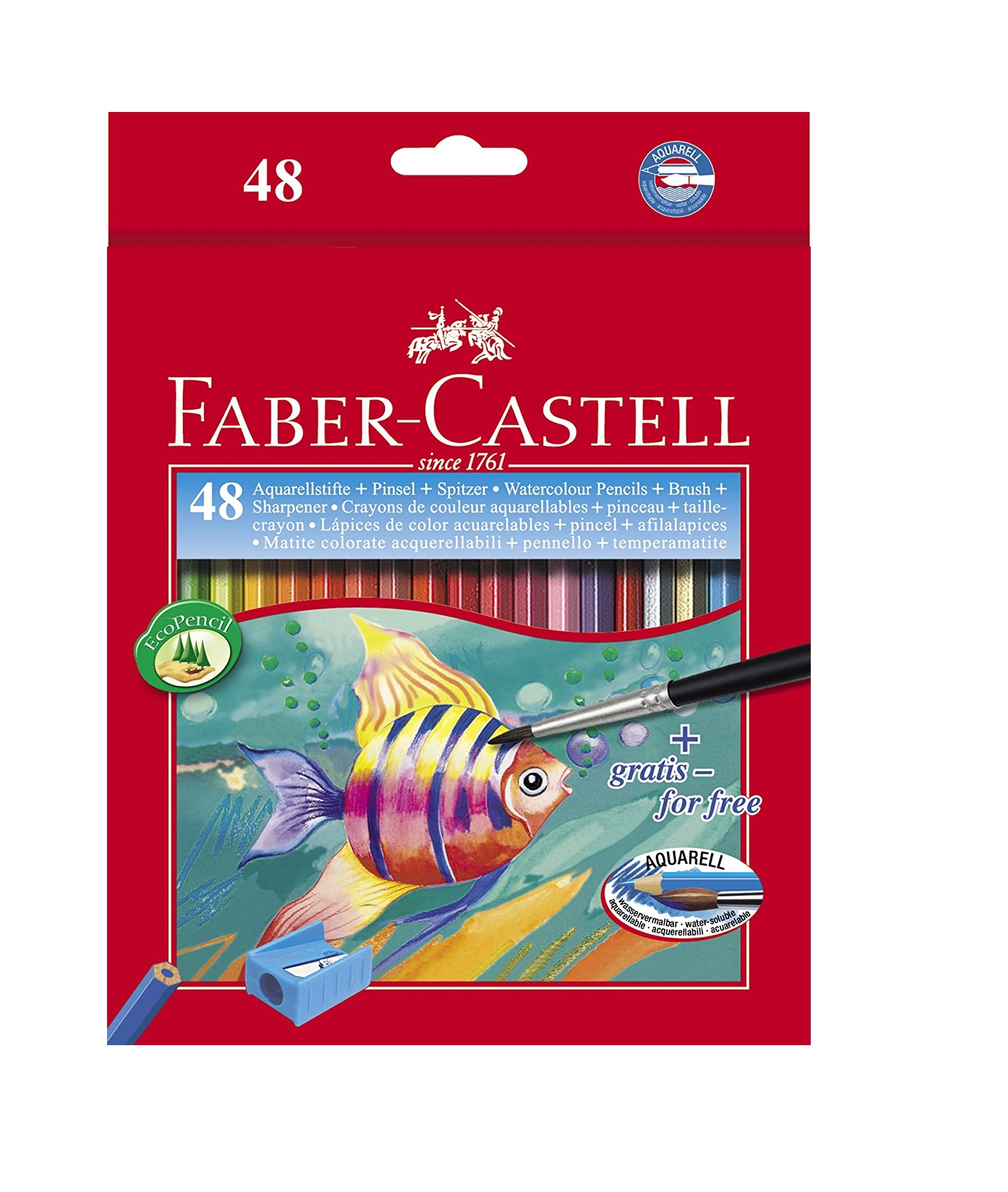 Faber-Castell Design Series Aquarelle Water Color Pencils - 48 Shades