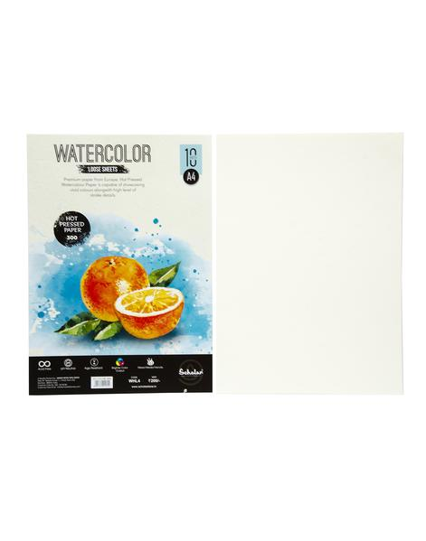 Scholar A4 WATERCOLOUR HOT PRESSED LOOSE SHEETS - 300 GSM (WHL4)