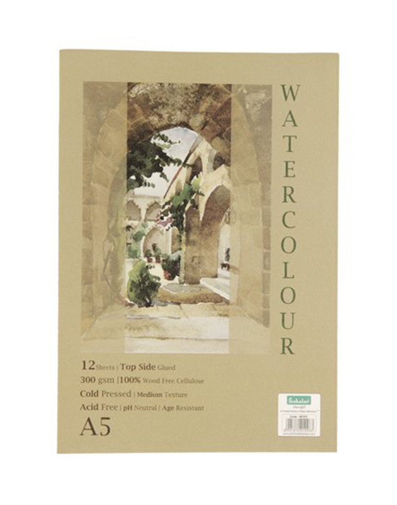 Scholar A5 WATERCOLOUR PAD - GLUED (WCP2)