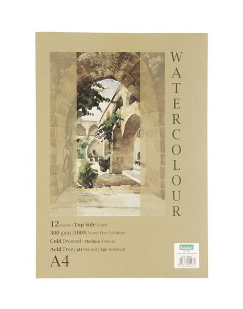 Scholar A4 WATERCOLOUR PAD - GLUED (WCP4)