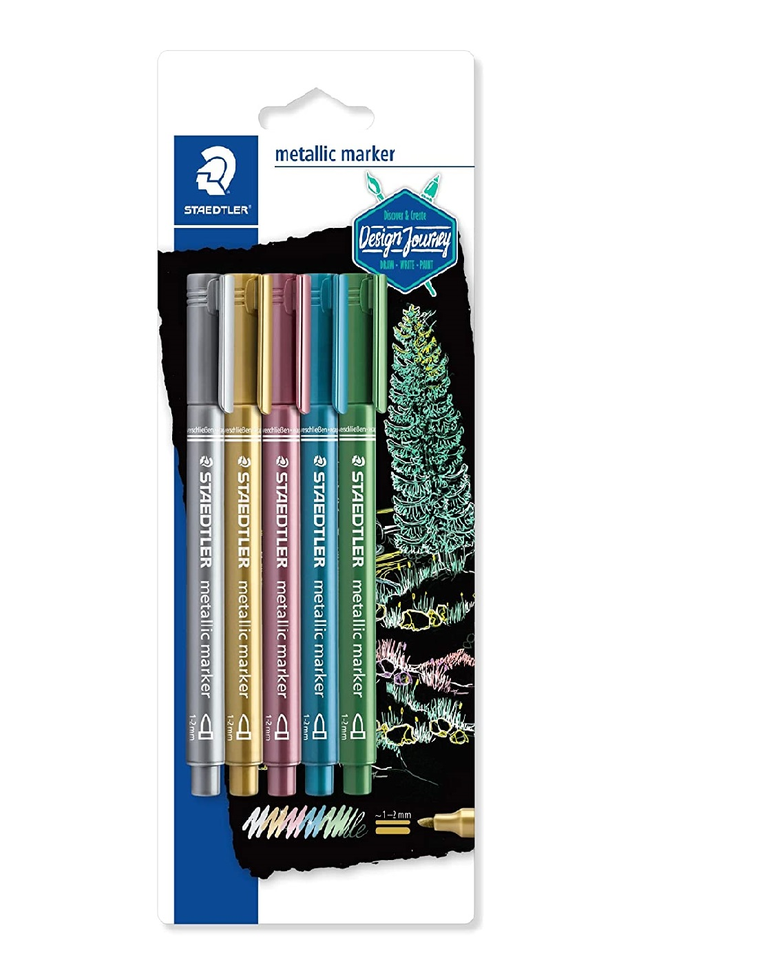Staedtler 8323-SBK5 5-Shade Metallic Marker