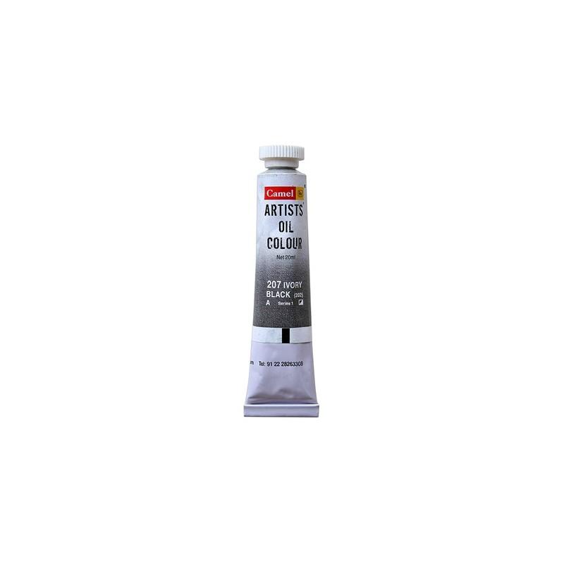 CAMEL ARTIST OIL COLOUR 20ML-207  IVORY BLACK