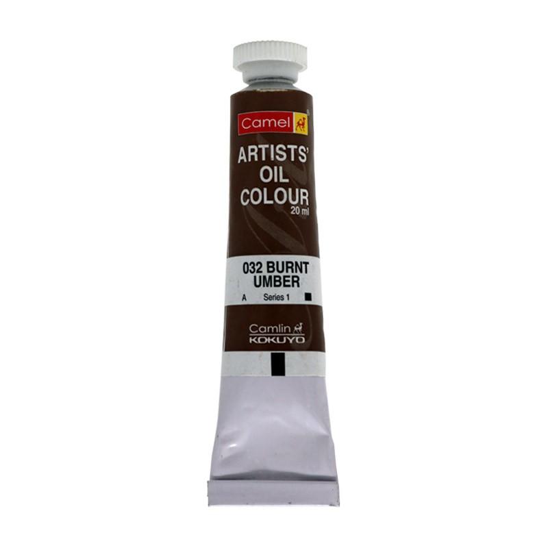 CAMEL ARTIST OIL COLOUR 20ML-032 BURNT UMBER