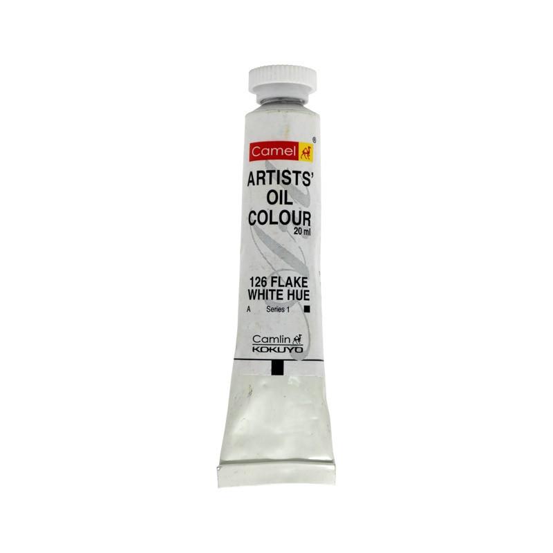 CAMEL ARTIST OIL COLOUR 20ML-126 FLAKE WHITE HUE