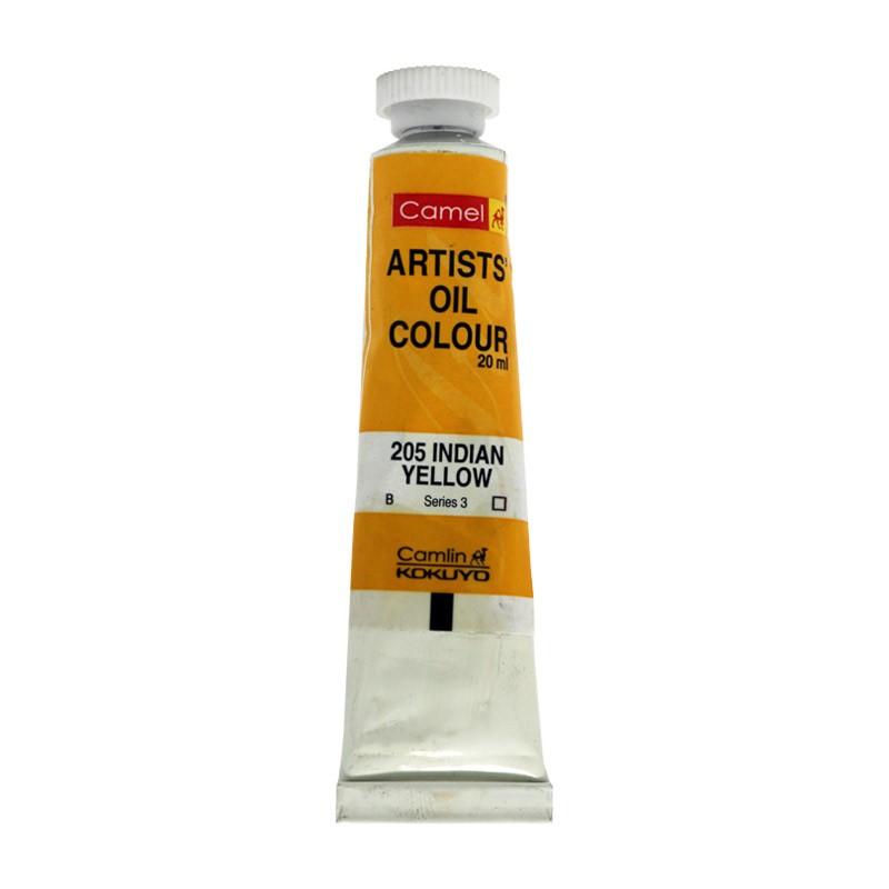 CAMEL ARTIST OIL COLOUR 20ML-205 INDIAN YELLOW