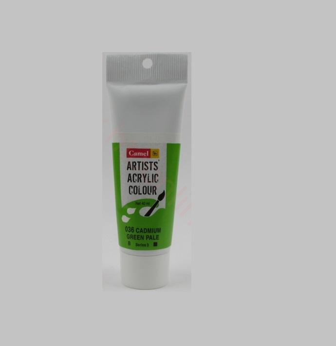 Camel Artists Acrylic Colour 40ml Cadmium Green Pale Hue 036