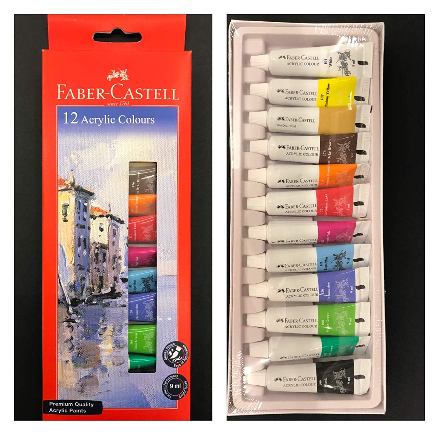 Faber-Castell Student Acrylic Colour Set - Pack of 12