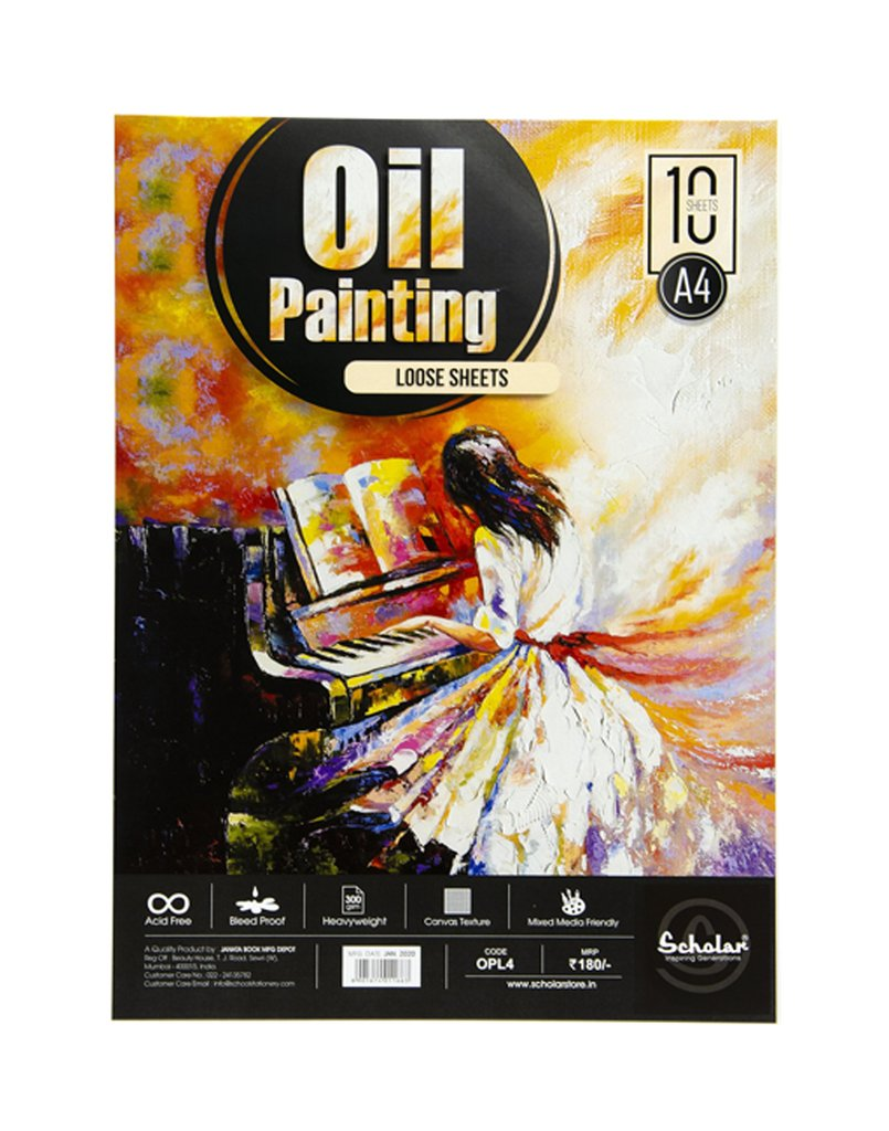 Scholar A4 OIL PAINTING LOOSE SHEETS - 300 GSM (OPL4)