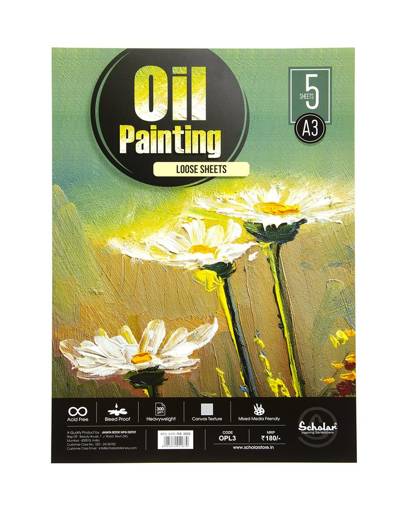 Scholar A3 OIL PAINTING LOOSE SHEETS - 300 GSM (OPL3)