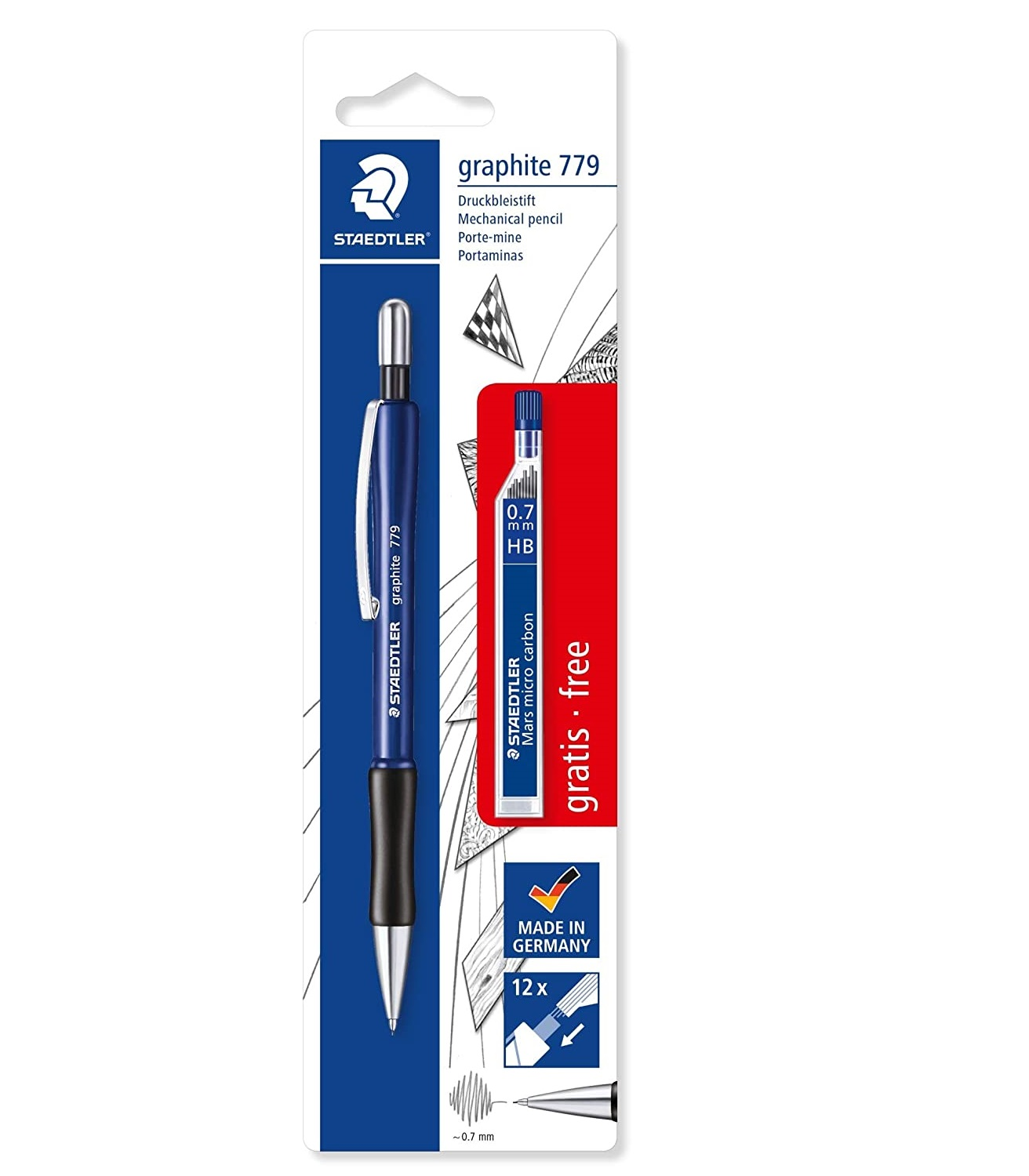 Staedtler Graphite 779 0.7mm Mechanical Pencil - color variations (Black/Blue)