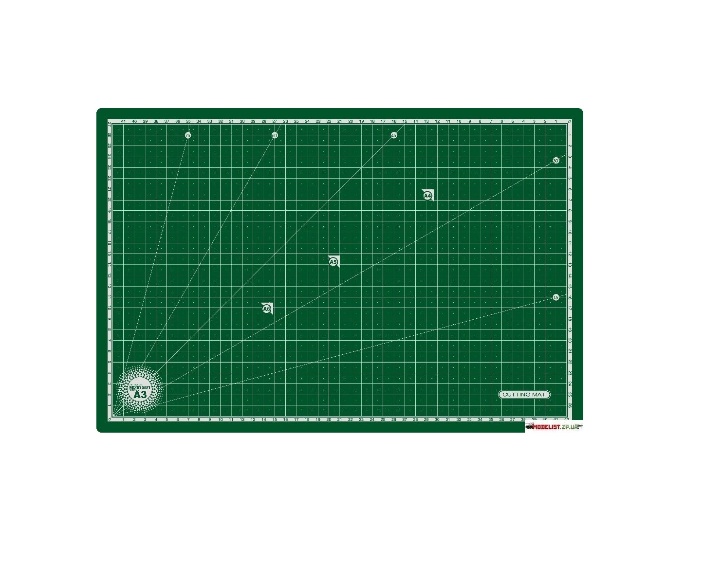 "Morn Sun Flexible Cutting Mat A/3 Size (18"" X 12""), Green"