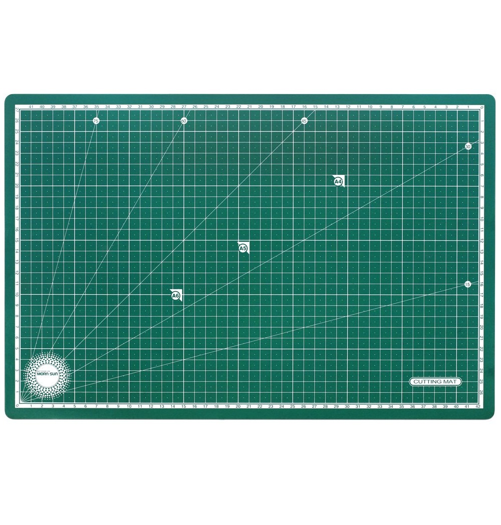 Morn Sun Flexible Cutting Mat A/4 Size With Marked Pattern And Grids Green
