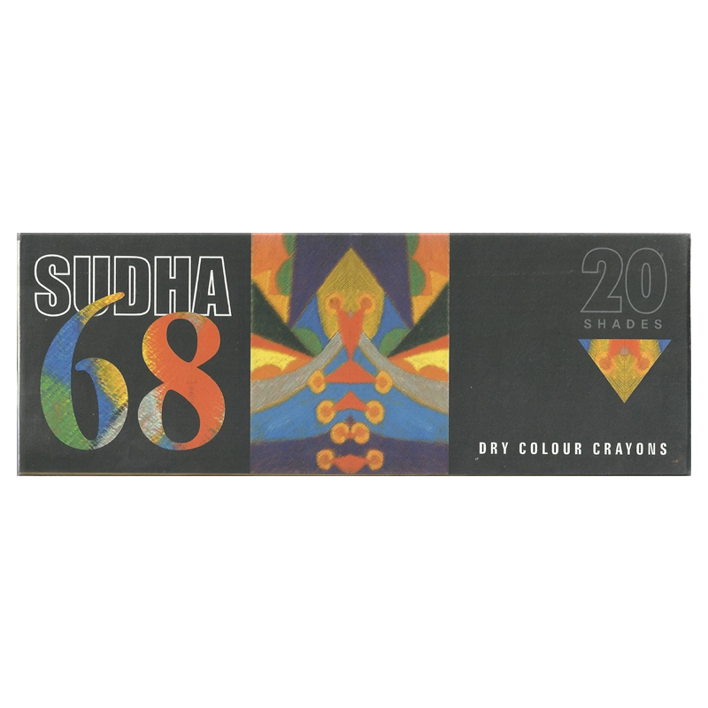 Sudha 68 Dry Colour Crayons 20 Shades