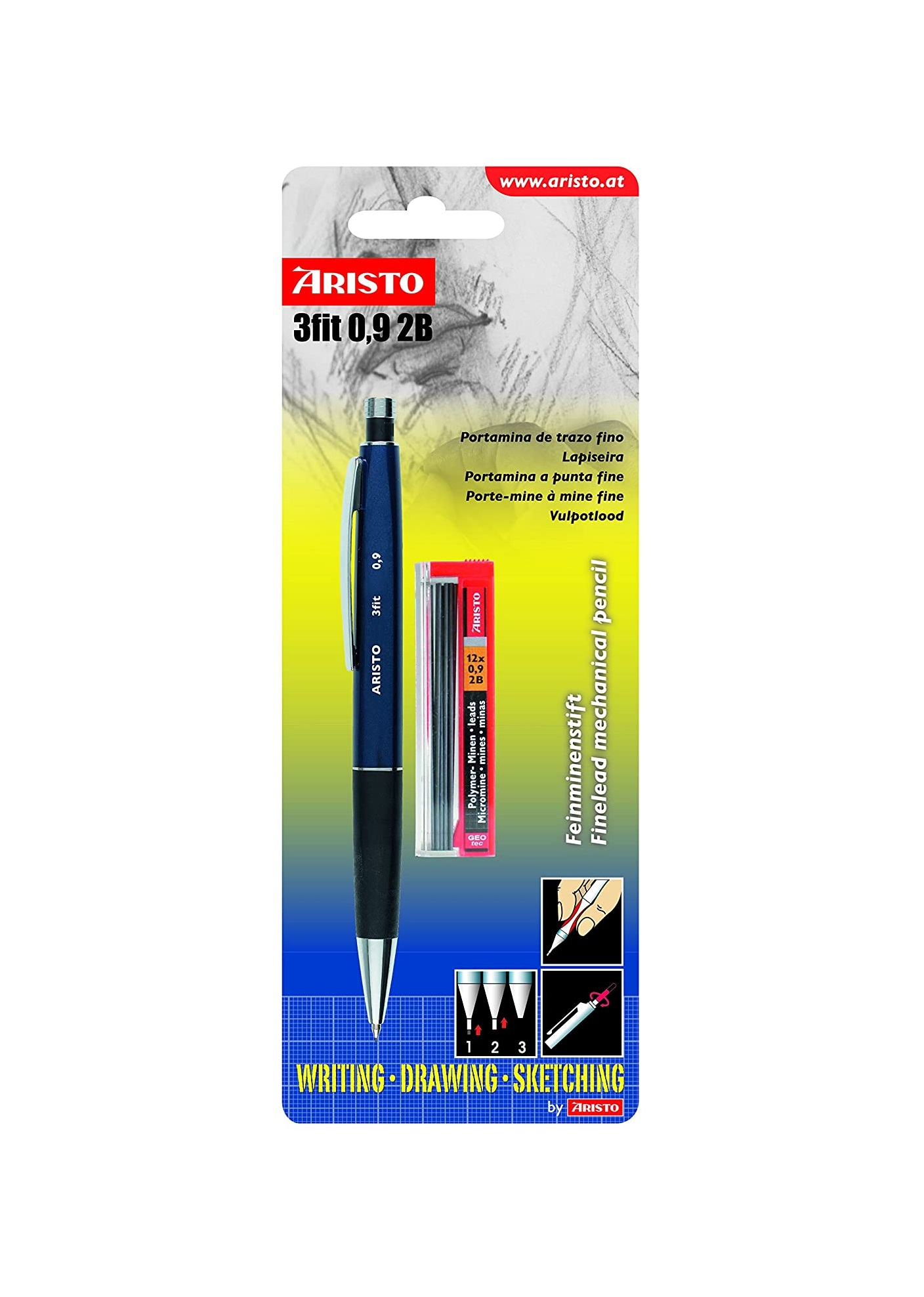 Aristo Mechanical Pencil 3 fit 0.9 mm 2B