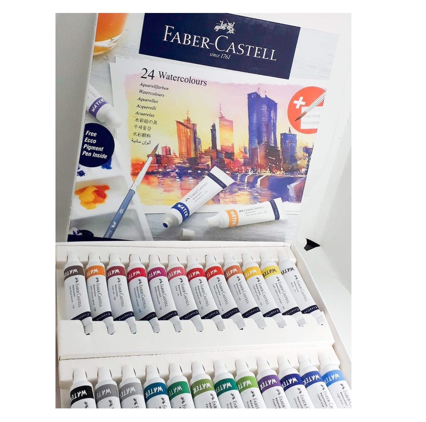 Faber-Castell Creative Studio Watercolours 9 ml Set of 24