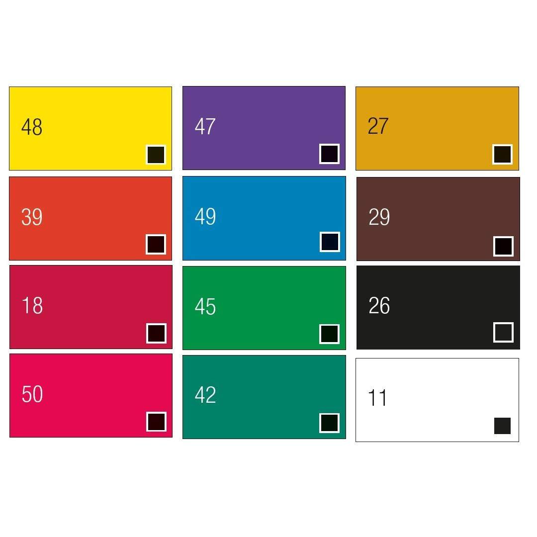Pebeo Studio Gouache - Set of 12 Colours in 12 ML Tubes