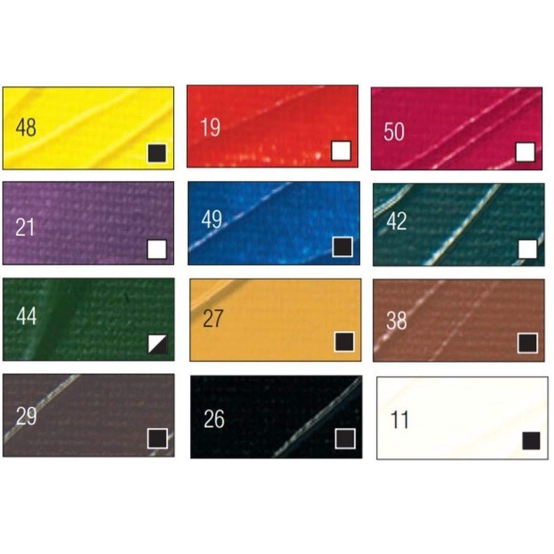 Pebeo High Viscosity Studio Acrylics - Set of 12 Colours in 12 ML Tubes