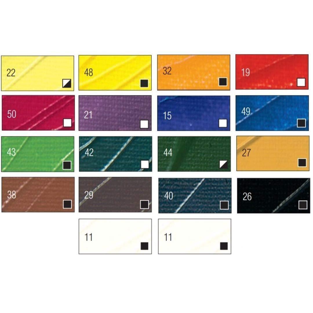 Pebeo High Viscosity Studio Acrylics - Set of 18 Colours in 12 ML Tubes
