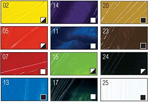Pebeo Studio Fine XL Oil - New Set of 12 Colours in 12 ML Tubes
