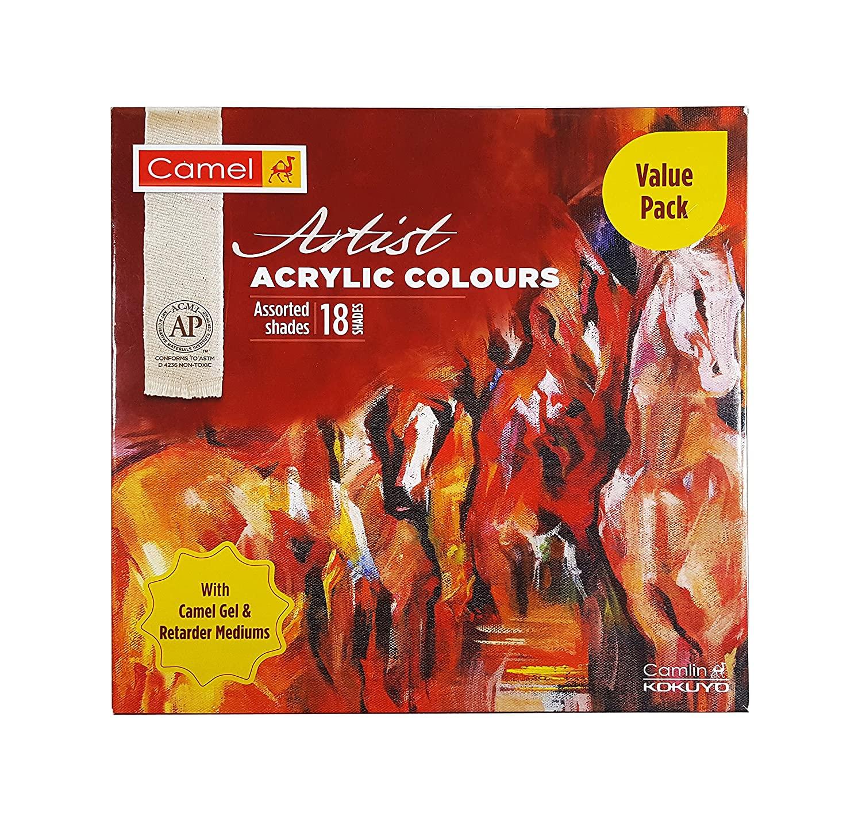 Camlin Artist Acrylic Colors - 18 Shades, 20ml