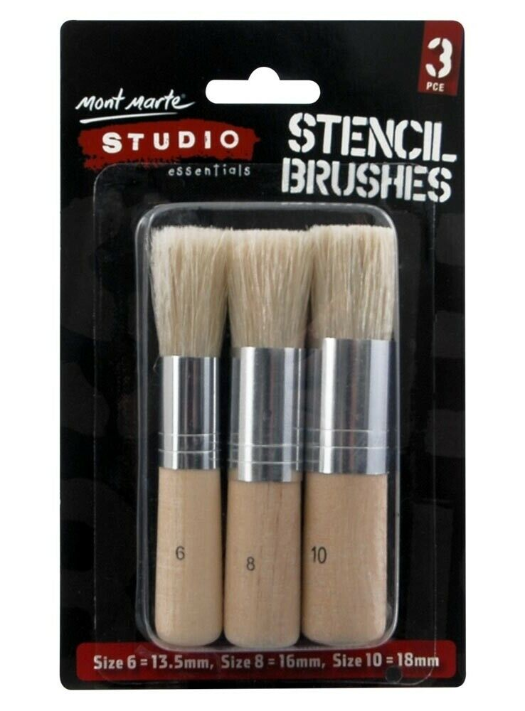Mont Marte Studio Stencil Brushes 3 pack