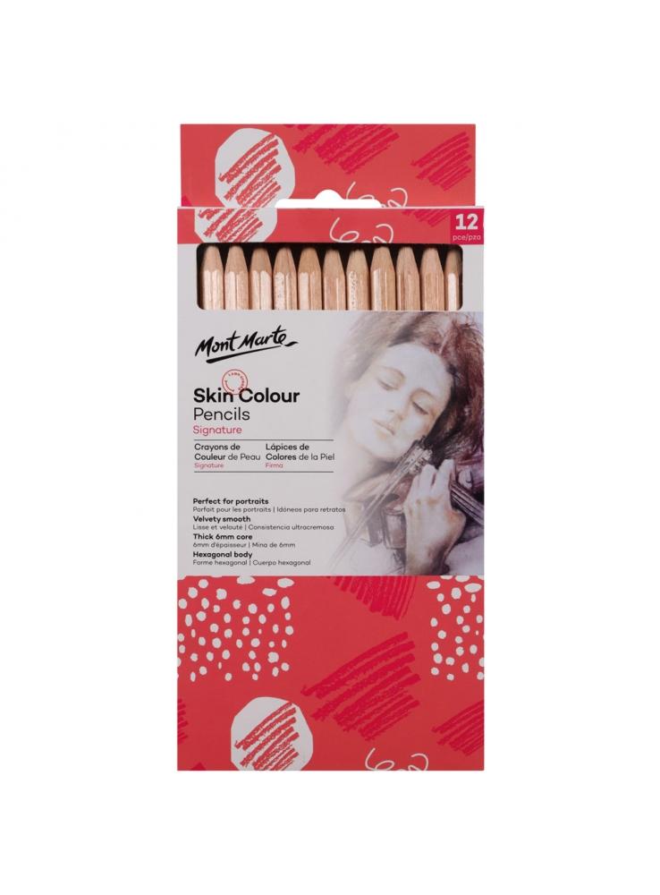 Mont Marte Signature Skin Colour Pencils 12pce