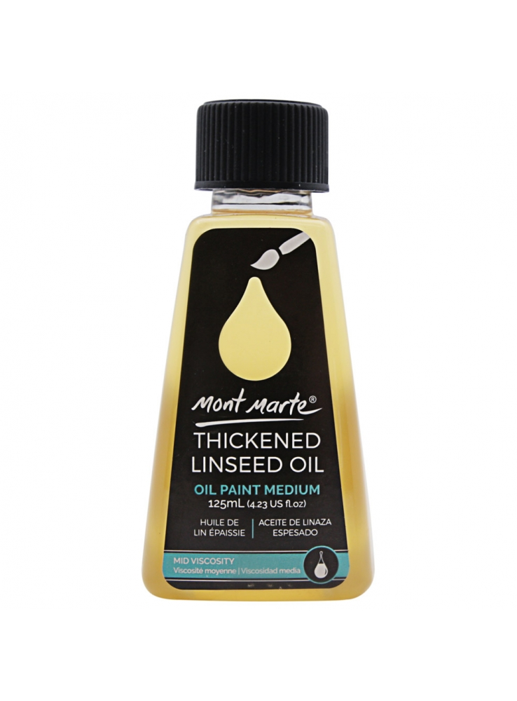 Mont Marte Thickened Linseed Oil 125ml