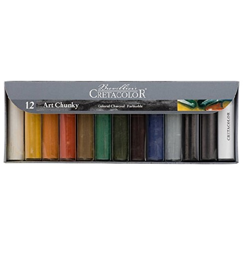 Cretacolor Art Chunky Set of 12 (Oil-Free and Water-Soluble)