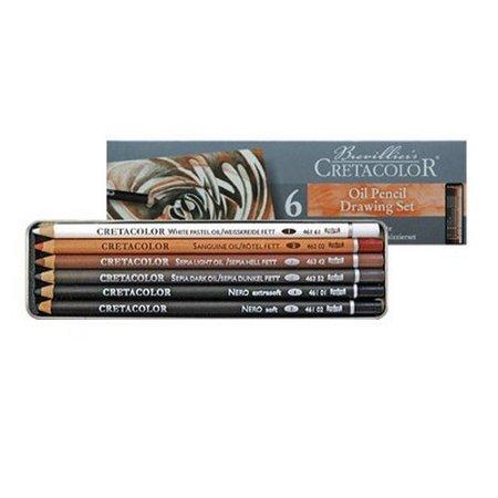 Cretacolor Oil Pencil Tin Box Set/6