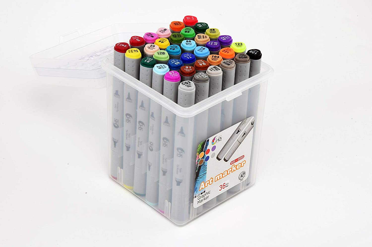 HS Tinge Alcohol TwinTip Markers (Set of 48)